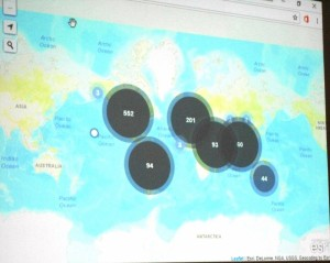 Harta cu puncte simple realizata in GIS